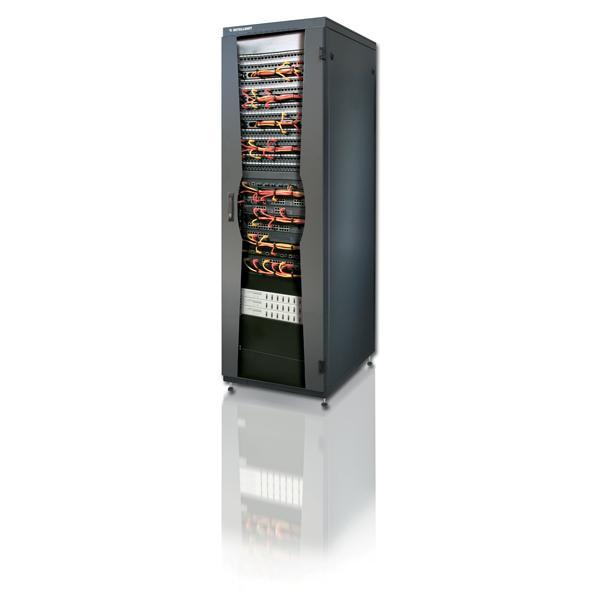 Armadio NetRack 19'' 600x800 24 Unità Nero da Assemblare