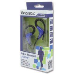 Auricolari Stereo Active con Microfono Nero / Blu