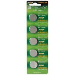 Batterie a Bottone Litio CR2032 (set 5 pz)