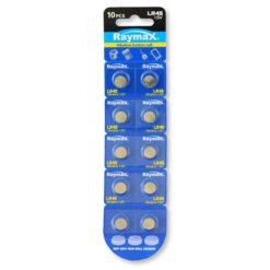 Batterie a bottone Alcalina LR45 LR936 394 AG9 (set 10 pz)