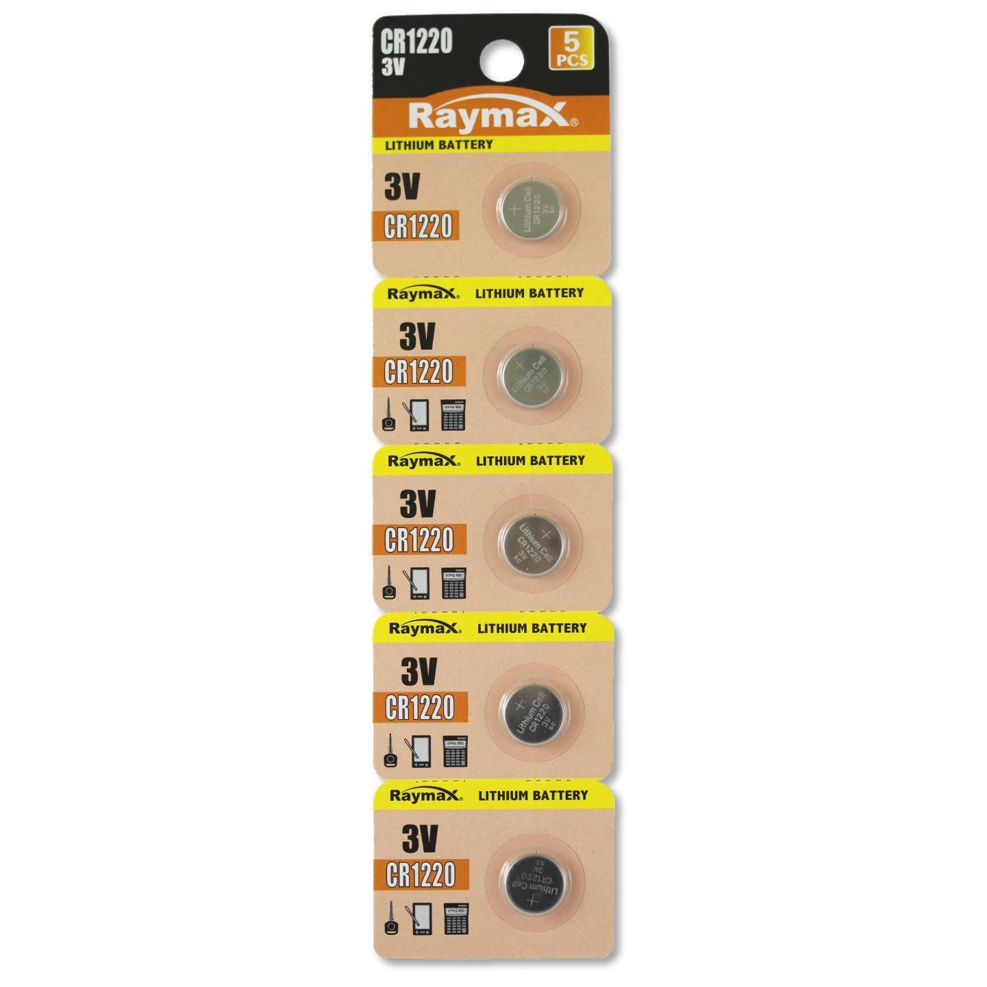 Batterie a bottone Litio CR1220 (set 5 pz)