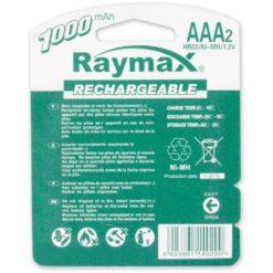 Blister 2 Batterie Ricaricabili Mini Stilo AAA 1000 mAh