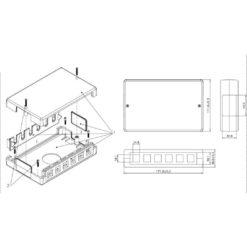 Box di Distribuzione 6/12 porte Keystone