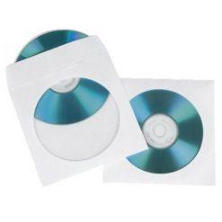 Buste Porta CD/DVD di Carta 100 Micron con Oblò e Aletta 100 pz