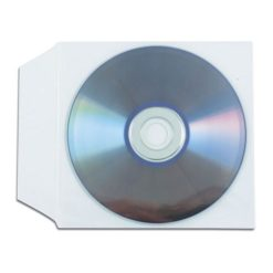 Buste Porta CD/DVD in PPL 100 Micron Con Aletta 100 pz