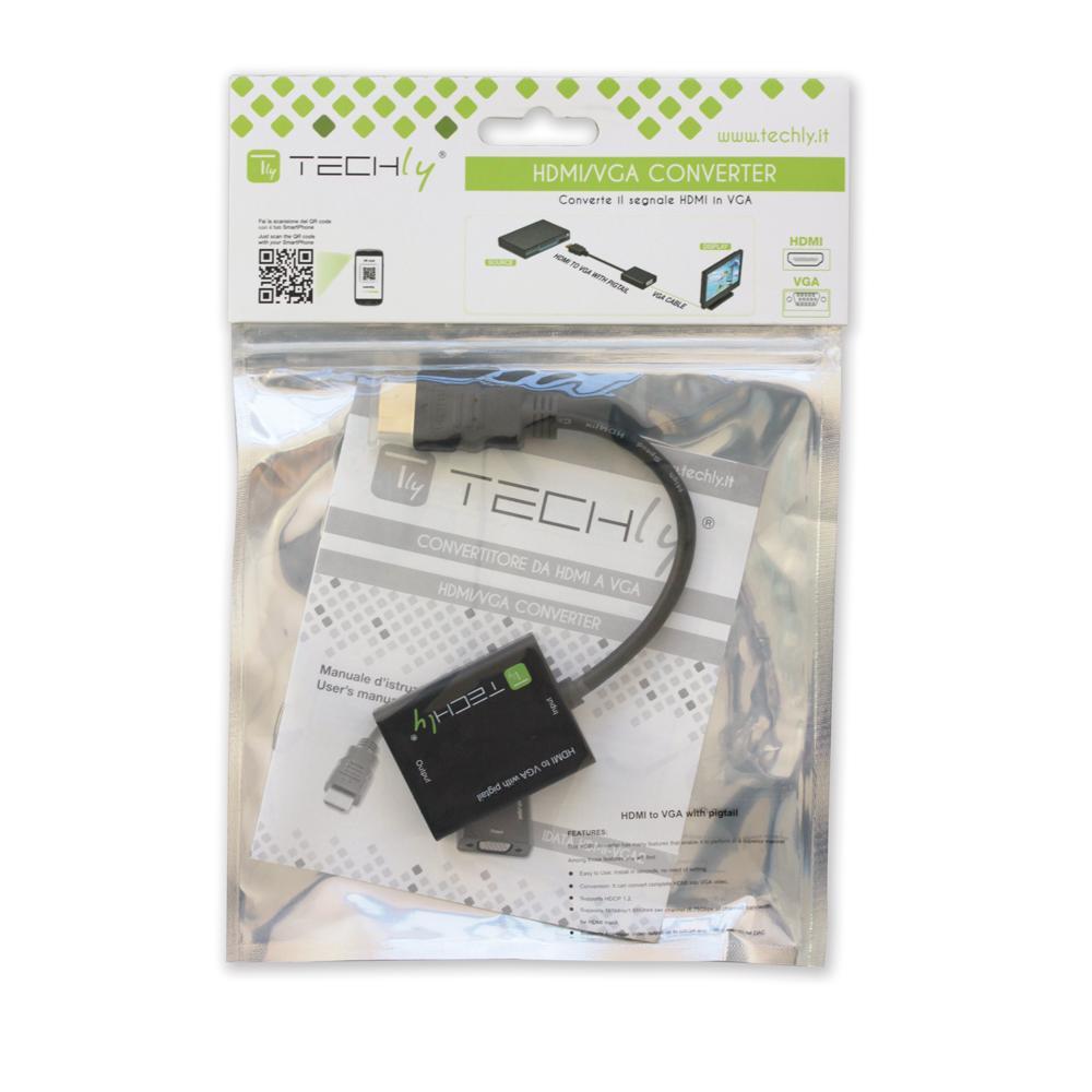Cavo Convertitore Adattatore da HDMI a VGA con Micro USB e Audio