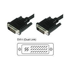 Cavo Monitor DVI Analogico digitale  M/M Dual Link 1,8 mt (DVI-I)
