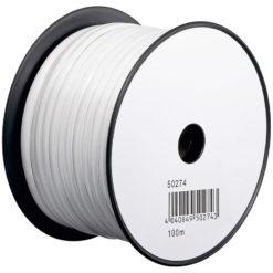 Cavo Telefonico Cavo 4 poli 100 m Bianco