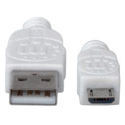 Cavo USB 2.0 A maschio/Micro B maschio 1m Bianco
