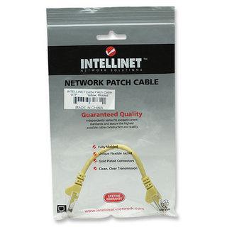Cavo di rete Patch in Rame Cat. 5e Giallo UTP 0,5 mt