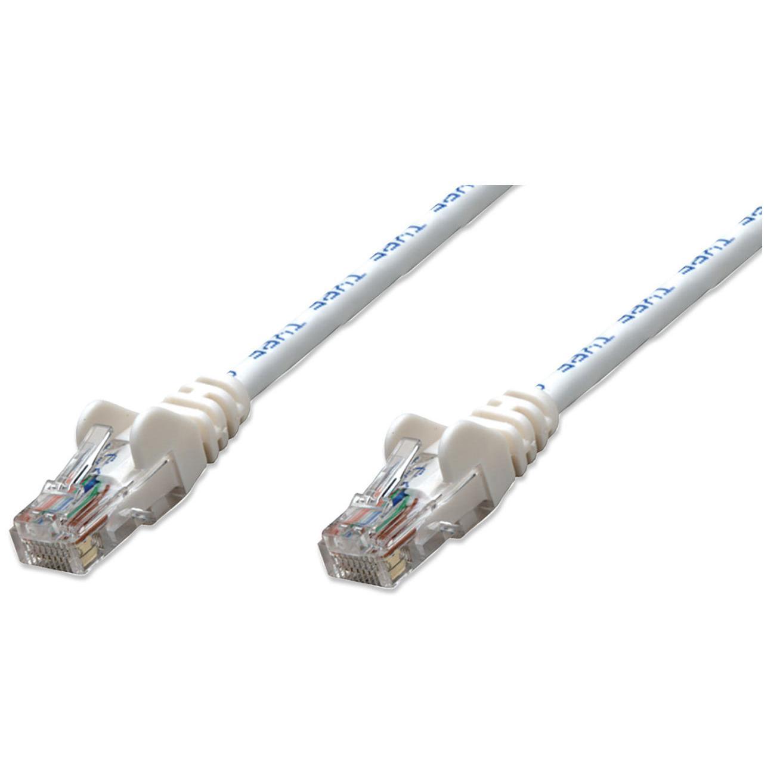 Cavo di rete Patch in Rame Cat. 6 Bianco UTP 0,5 mt