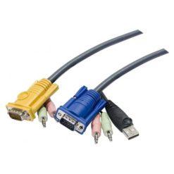 Cavo per KVM HD15 a USB con Audio 3m, 2L-5303U