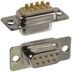 Connettore D-SUB 9p. F a Saldare