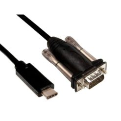 Convertitore Adattatore da USB-C™ a Seriale RS232 1,5m Nero