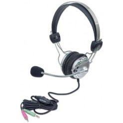 Cuffia Stereo con Microfono con Asta Flessibile