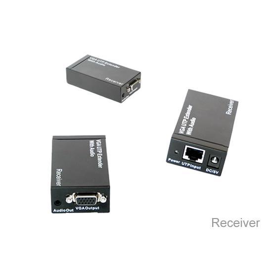 Extender/ Splitter Audio / Video 8 Porte su Cavo Cat5E 300 m