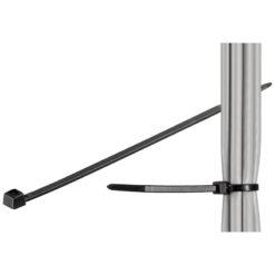 Fascette Fermacavi Autobloccanti 100x2,5mm in Nylon 100pz Nero