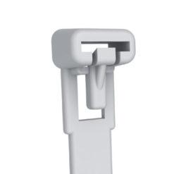 Fascette Fermacavi con Linguetta 150x7,6mm in Nylon 100pz Bianco