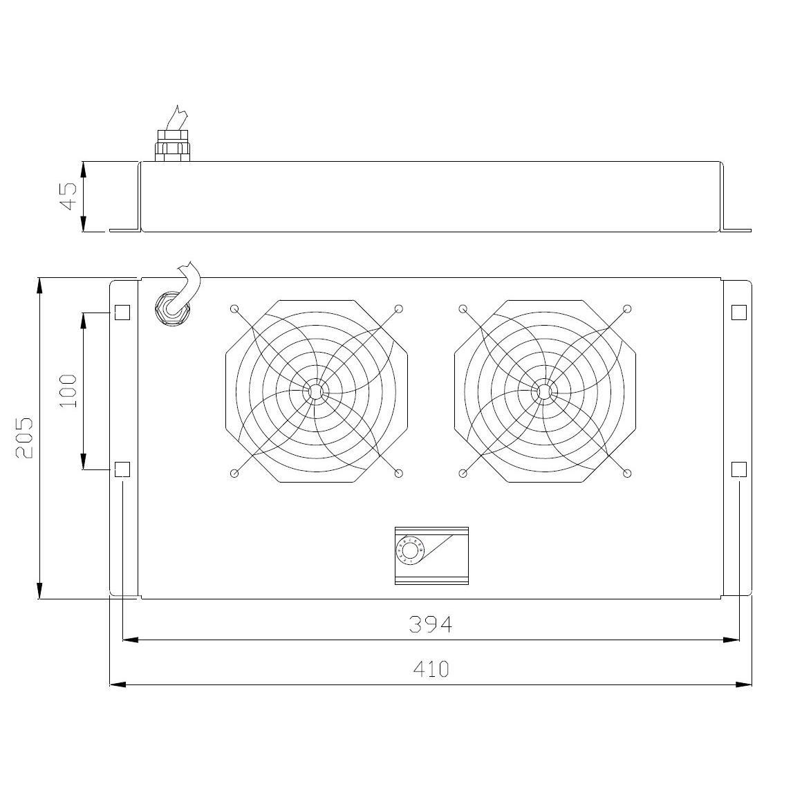 Gruppo di Ventilazione a Soffitto per Rack 19'' 2 Ventole Grigio