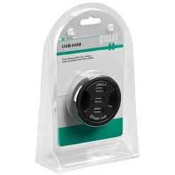 Hub USB 2.0 3 porte In-Desk diametro 6 cm