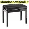 K&M bench black glossy finish, seat black imitation leather Piano bench 13911-200-21