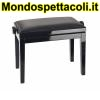 K&M bench black glossy finish, seat black imitation leather Piano bench 13990-200-21
