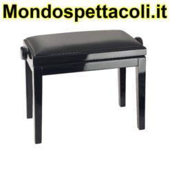 K&M bench black glossy finish, seat black imitation leather Piano bench 13990-200-21