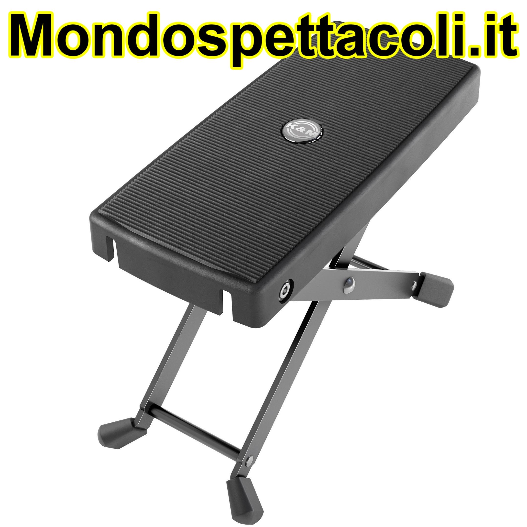 K&M black Footrest 14640-000-55