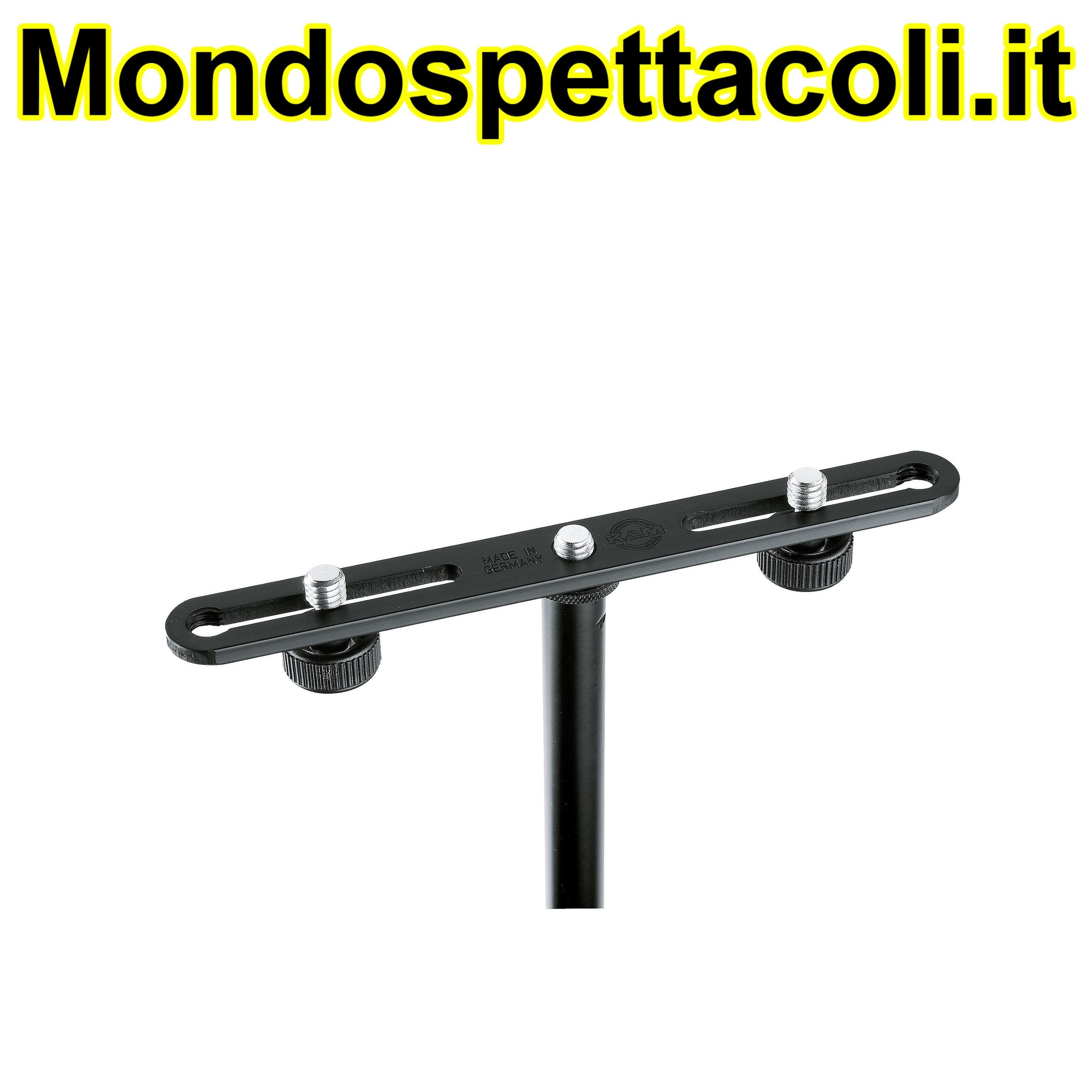K&M black Microphone bar 23550-300-55