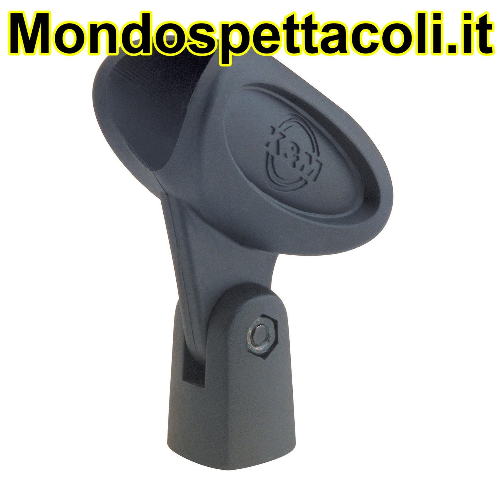 K&M black Microphone clip 85055-000-55