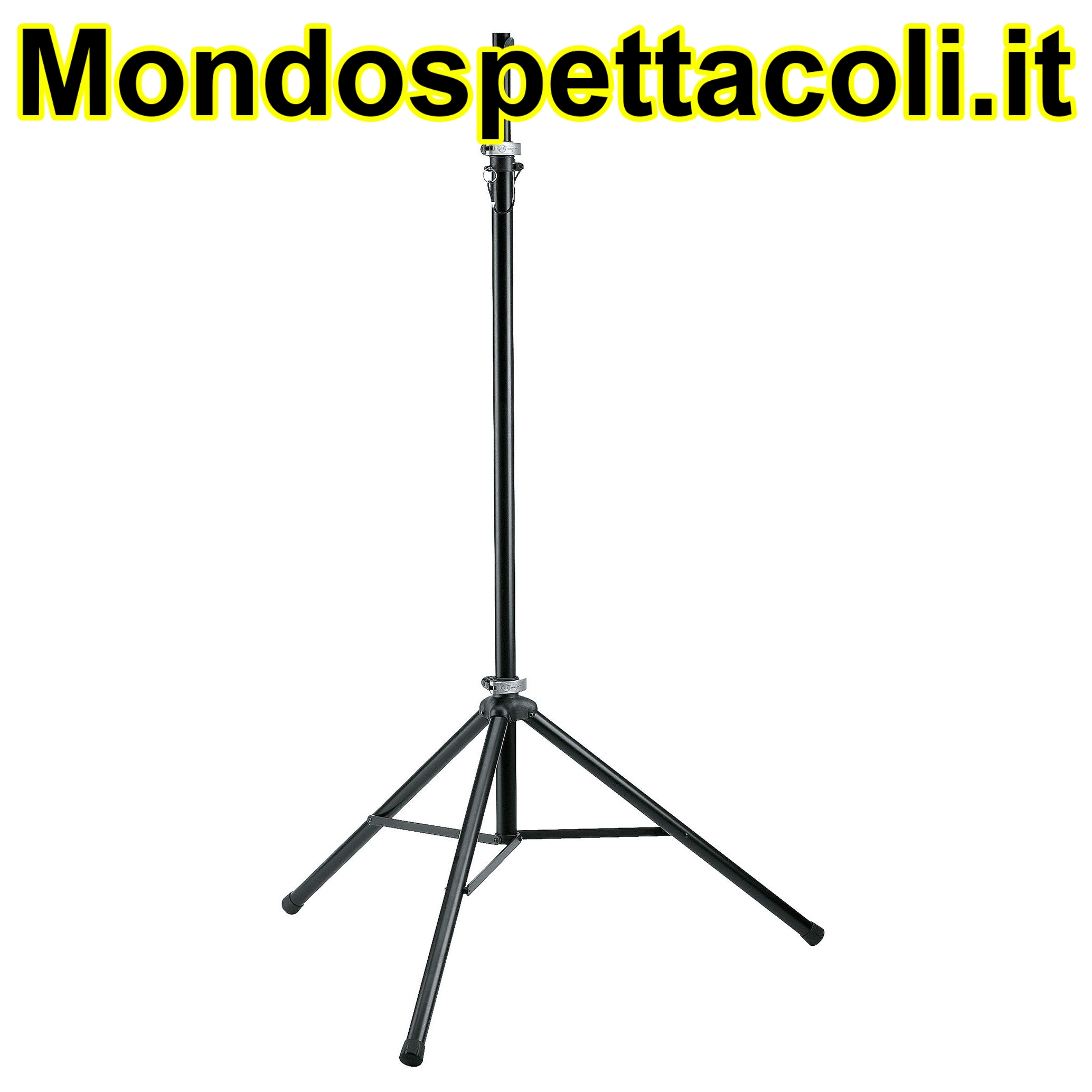 K&M black anodized Lighting stand 24625-000-35