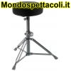 K&M black fabric Drummer's throne 14016-000-55
