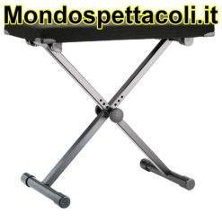 K&M black fabric Keyboard bench 14076-000-55