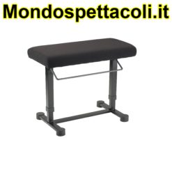 K&M black fabric Piano bench Uplift 14081-000-55