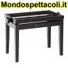 K&M black glossy finish Piano bench - wooden-frame 13701-000-21