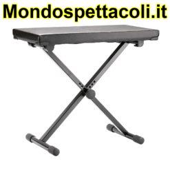 K&M black imitation leather Keyboard bench 14075-000-55
