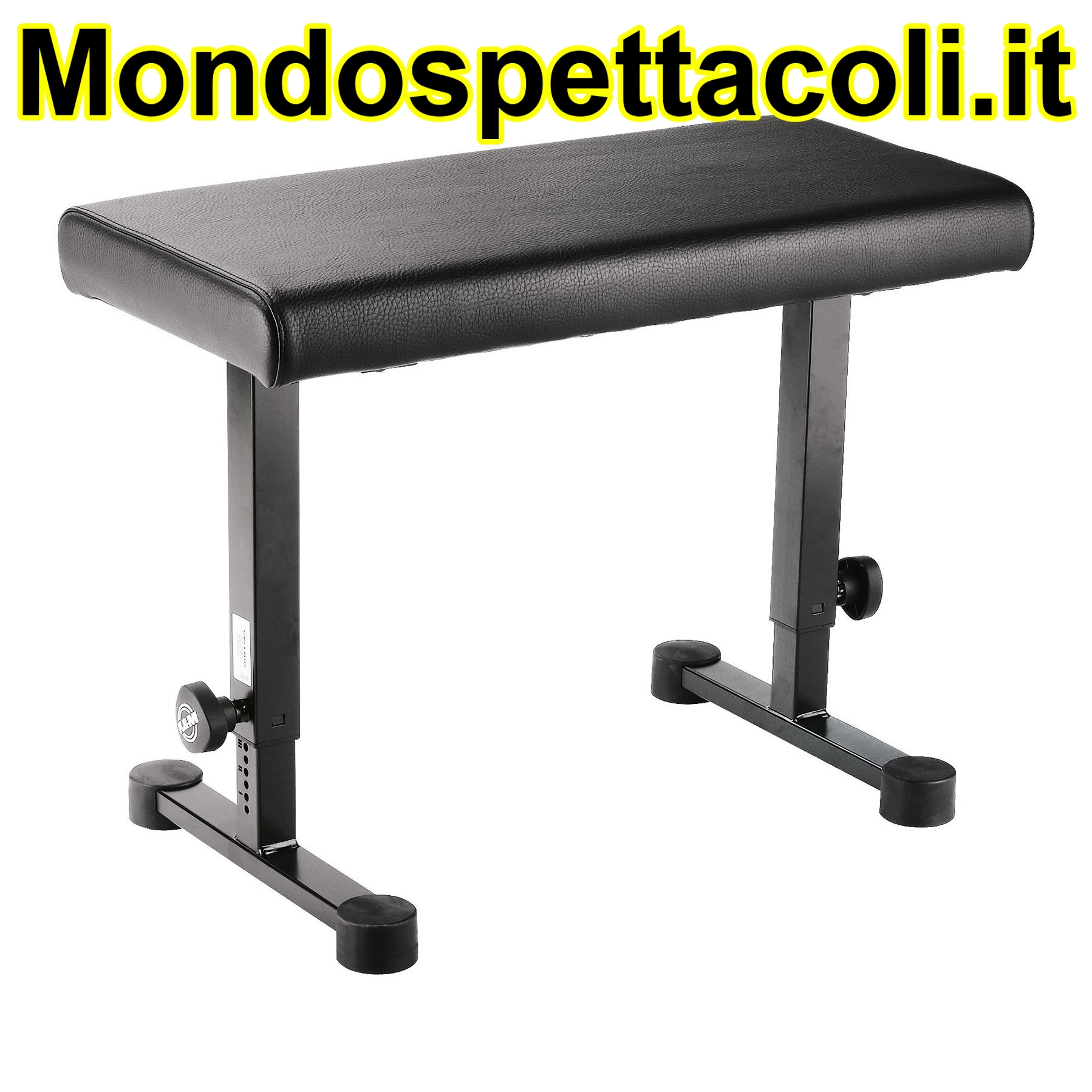 K&M black imitation leather Piano bench 14085-000-55