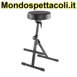 K&M black imitation leather Pneumatic stool 14061-000-55