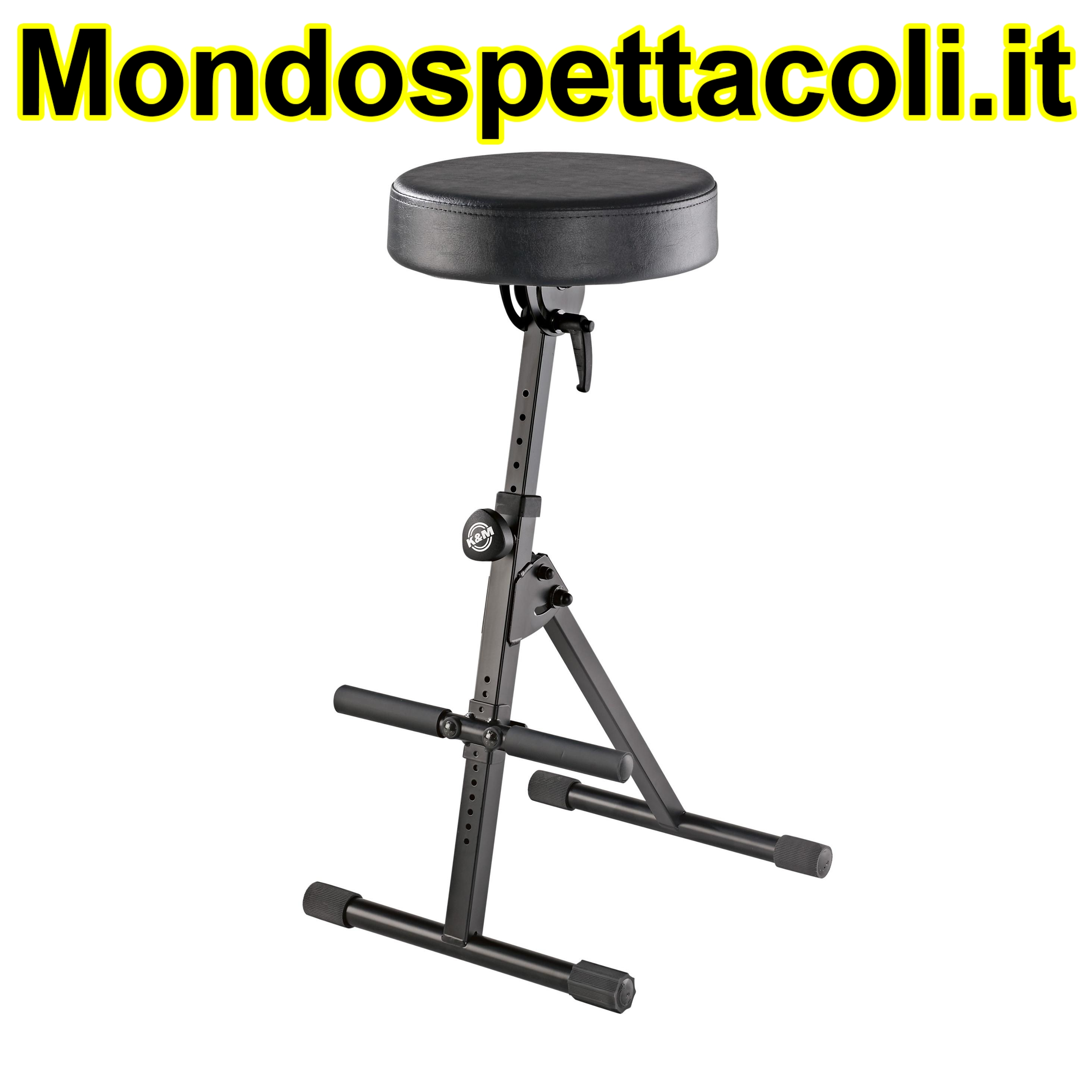 K&M black imitation leather Pneumatic stool 14061-000-55