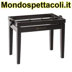 K&M black matt finish Piano bench - wooden-frame 13700-000-20