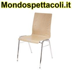 K&M legs chrome, seating beech wood natural Stacking chair 13400-000-02