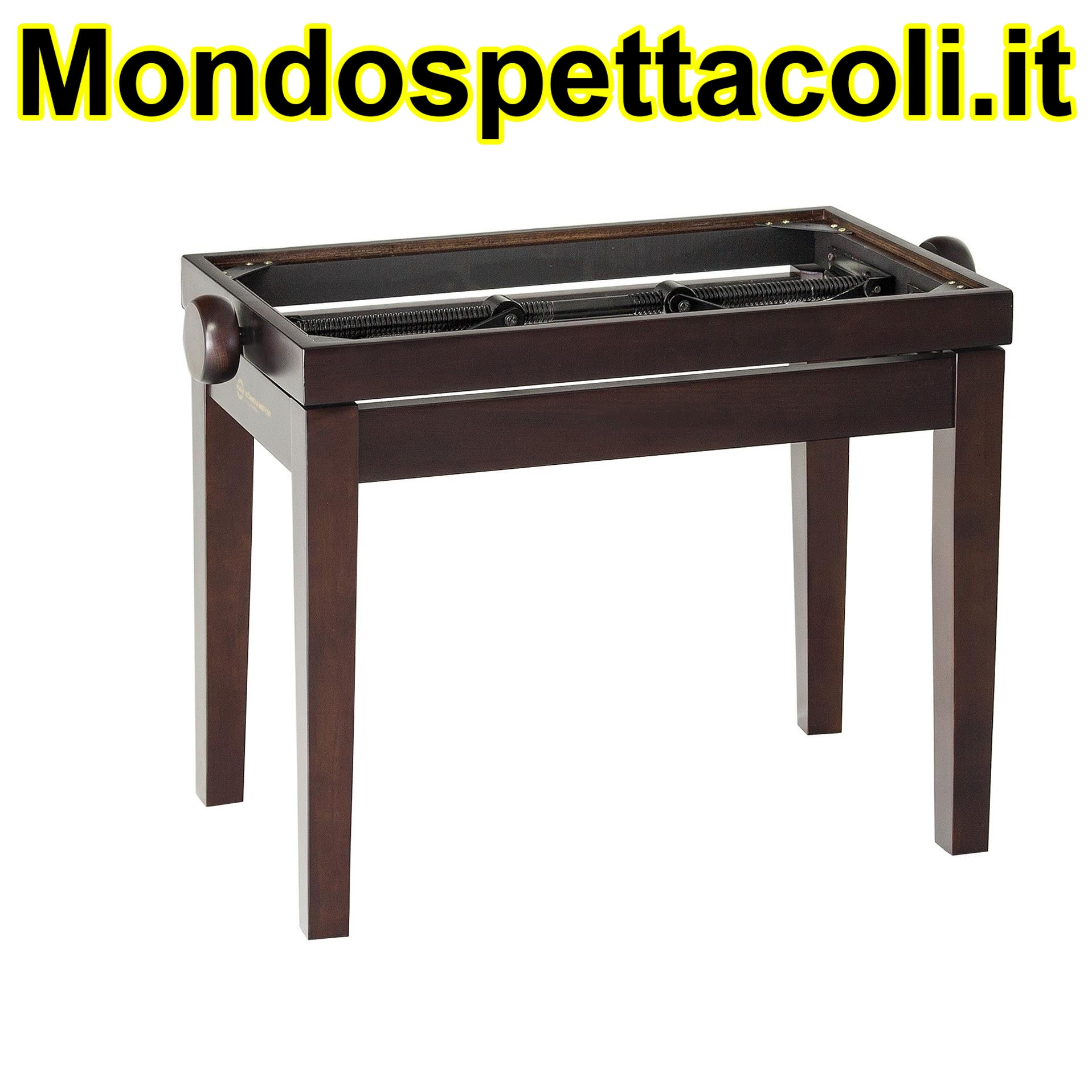 K&M walnut matt finish Piano bench - wooden-frame 13730-000-26