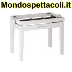 K&M white matt finish Piano bench - wooden-frame 13710-000-22