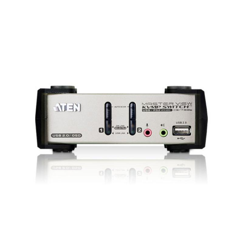 KVM VGA audio Switch 2 porte USB/PS2 OSD, CS1732B