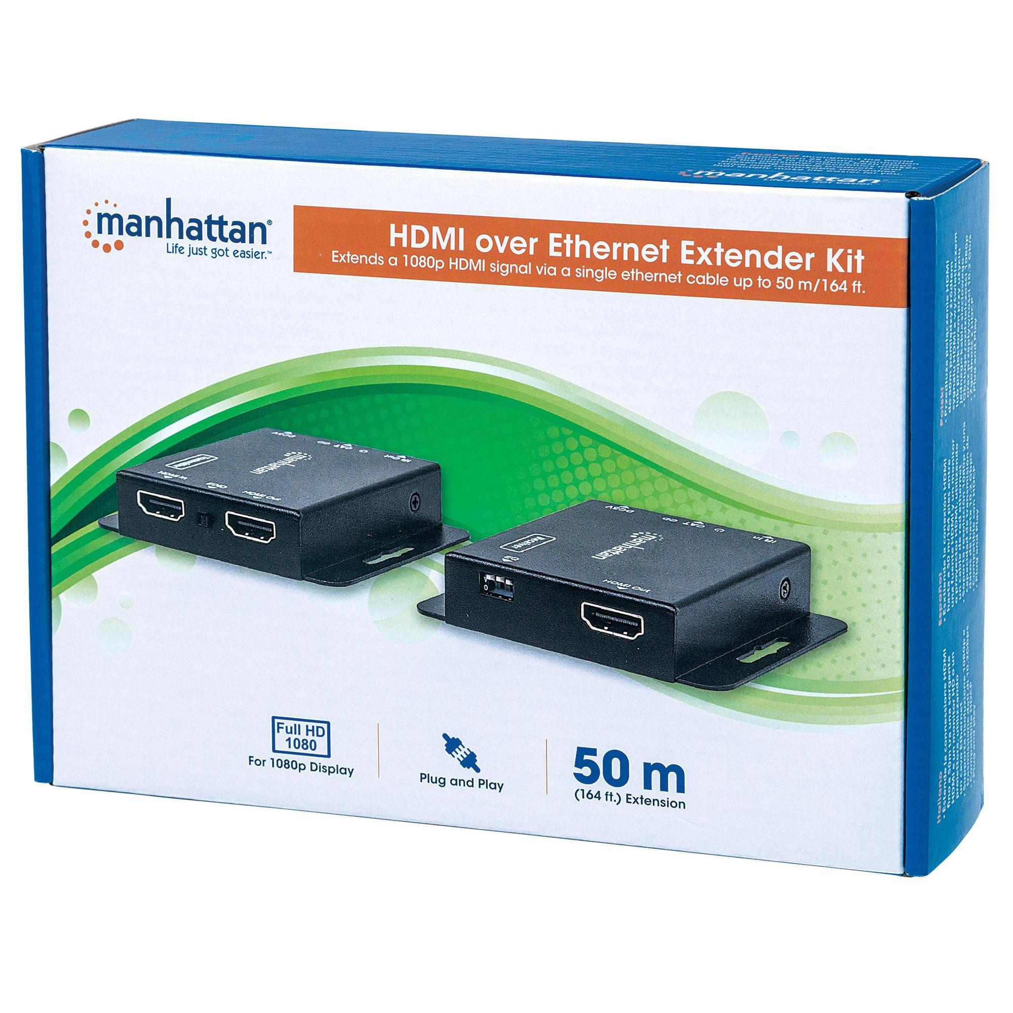 Kit Extender HDMI PoE Cat.6 fino a 50m, con IR