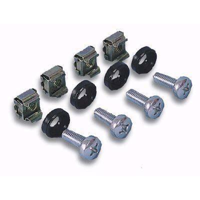 Kit Set 50 Viti 50 Dadi e 50 Rondelle per Montaggio Rack Silver