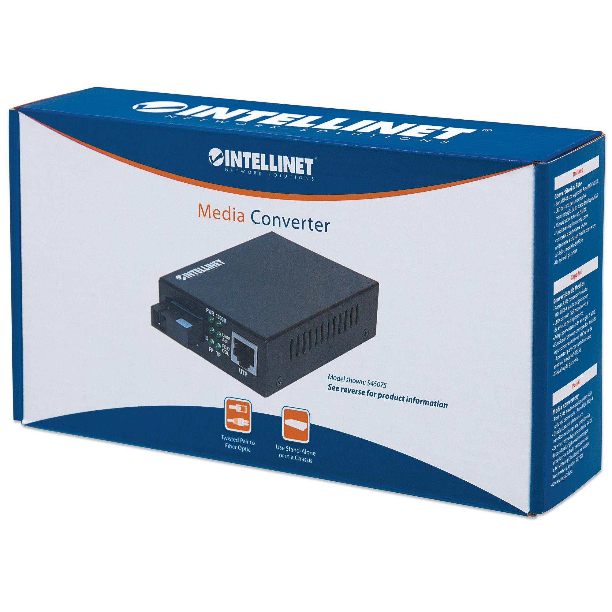 Media converter Gigabit Ethernet WDM Bidirezionale Single Mode RX1310/TX1550
