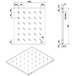 Mensola per rack 19'' 530 mm Nera 4 punti
