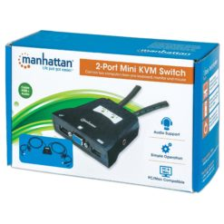 Mini KVM Switch 2 Porte USB con Audio