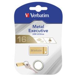 Mini Memoria USB 3.0 Verbatim con Portachiavi 16GB Oro